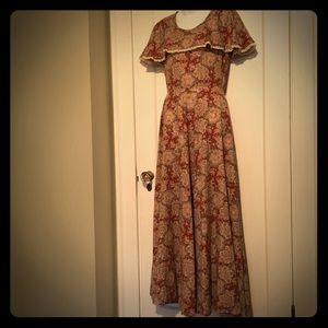 Vintage Bohemian Prairie Gown Dress