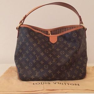 abfc4550b Louis Vuitton Bags | Delightful Pm Monogram Canvas Brown Tote Bag ...