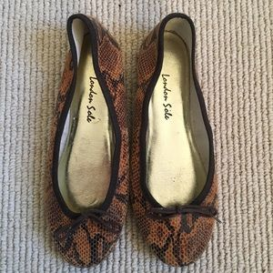 London Sole Animal Print Ballet Flats