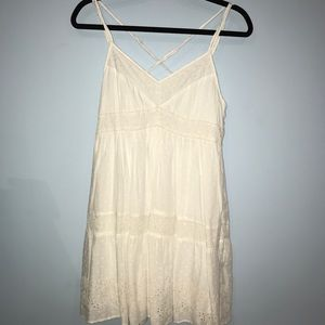 American Eagle simple white dress. Size small