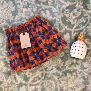 NWT Zara girl pineapple skirt