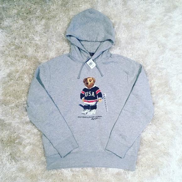 3404684f Ralph Lauren Shirts   Polo Bear Usa Hockey Hoodie   Poshmark
