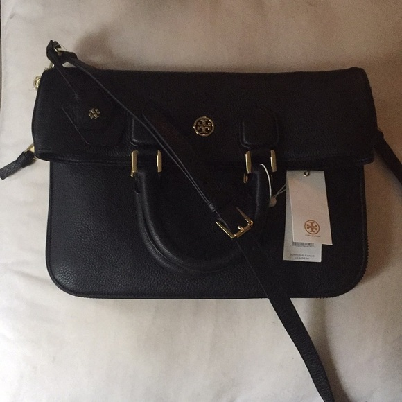 71de856d1aa Tory Burch Robinson Pebbled Fold Over Messenger