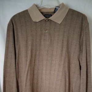 George Mens Brown Knit Pull Over Shirt  Lg #43