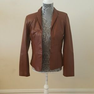 Nicole Miller Leather Blazer