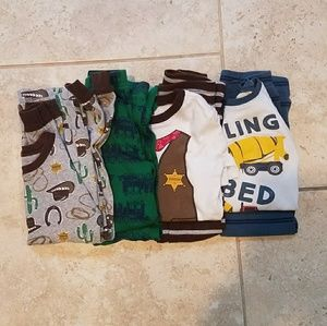 4 sets of 4t boy's pajamas