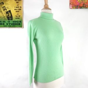 Vintage 70s ribbed turtleneck long sleeve sweater