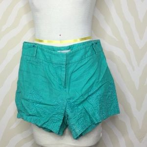 Barely worn//Great condition Loft turquoise shorts