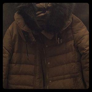 Winter Coat with a Fur Hood