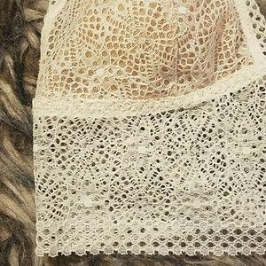 50ef75bde6 Victoria s Secret Intimates   Sleepwear - Vs crochet lace lightly padded  bralette long line