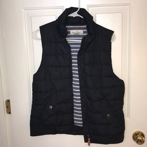 puffy navy vest from H&M