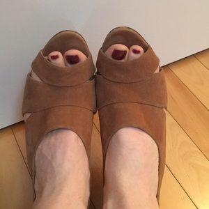 J Crew tan suede sandals