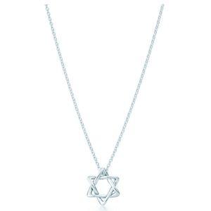 Tiffany's elsa peretti star of david pendant