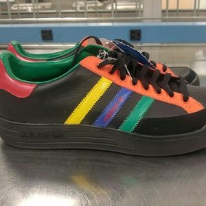 New Adidas 018473 Nastase Leather Black Shoes 11