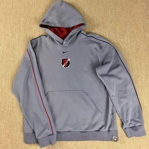Nike Hoodie Sweatshirt L Foot Soldier Soccer Gray