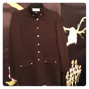 St. John Military Style Cardigan with Gold Detail!