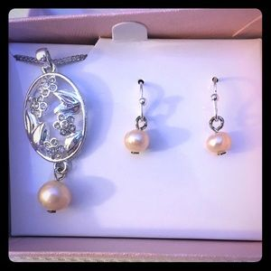 Pearl and diamonds Butterfly GiFT SET - GIFT Boxed