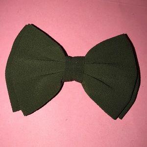Army Green Hair Bow