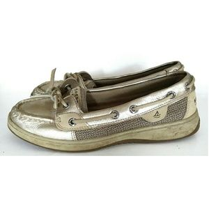 Sperry top-sider Gold slip on shoe  sz. 6