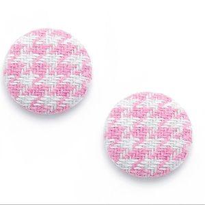 🆕🎁Houndstooth round stud earrings