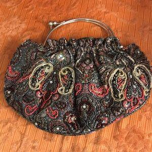 Vintage unique beaded handbag