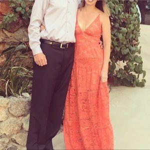 Melina Lace Fit & Flare Maxi Dress