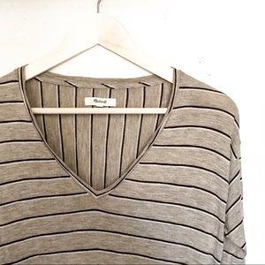 Brown striped Madewell shirt