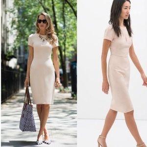 Zara blush pencil shift dress, XS