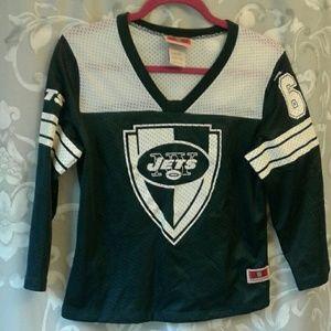 NY Jets jersey 3/4 sleeve shirt