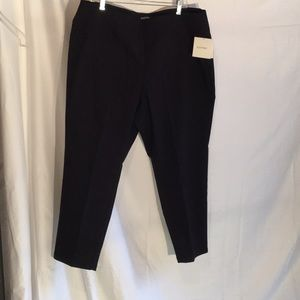 Black stretch pants in deep solid black NWT