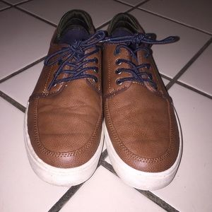 Brown & Navy Casual Boat Shoes