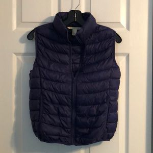 Forever 21 Blue Puffy Vest Small
