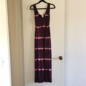 Motherhood Maternity Tie Dye Knit Maxi Dress