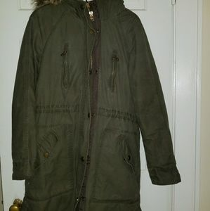 Military green parka by H&M