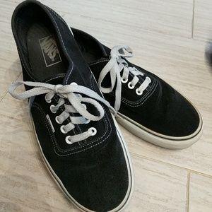 Men's VANS black canvas shoes