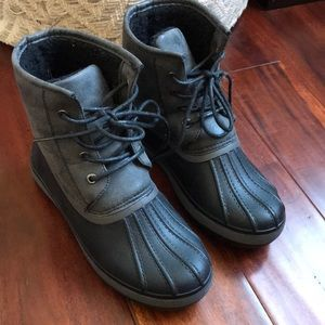 Rain Boots. Short length, super cozy and cute.
