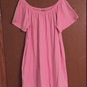 ASOS Curve Off the Shoulder Mini Dress