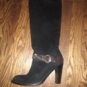 Cole Haan y'all black boots with buckle