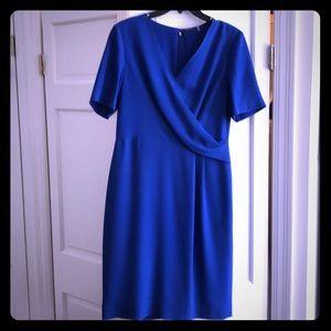 Elle Tahari cobalt blue dress size 8