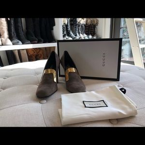Gucci taupe heels