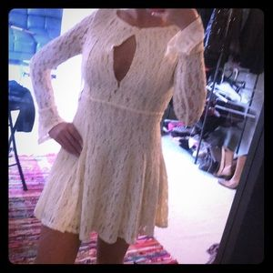 NWT Free People vintage-inspired lace mini dress