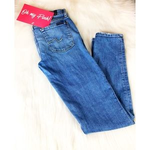 7 for All ManKind Slim Cigarette Jeans Size 28