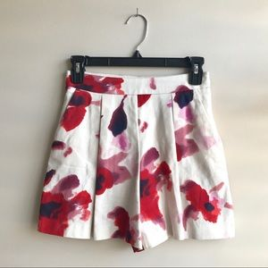 Zara Basic Floral Linen Shorts