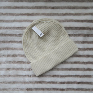 Off White Knit Beanie by H&M, One Size
