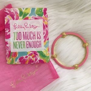 Lilly Pulitzer Pink and Gold Bangle