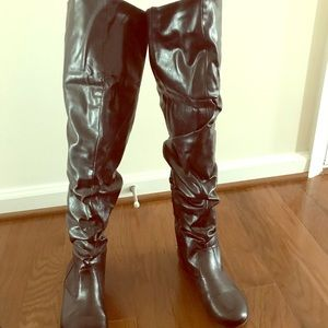 Ankle and over the knee leather boots!