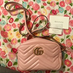 Gucci Marmont mini quilted-leather cross-body bag