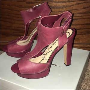 Jessica Simpson burgundy shoes