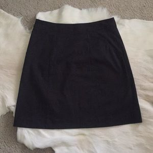 Theory Cotton Blend Black Skirt With Pocket 6