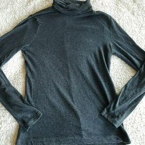 Madewell Turtle Neck Long Sleeve Wool Blend Top